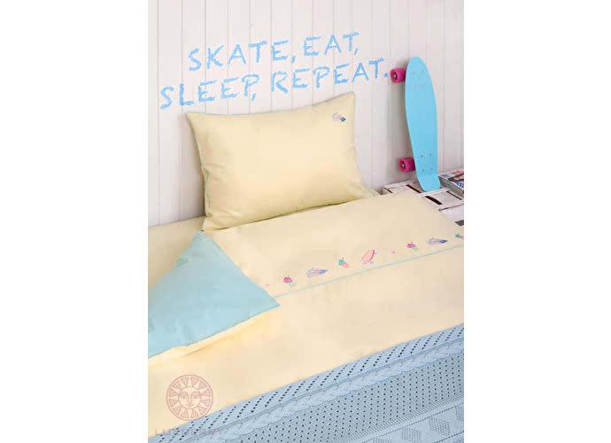 Детский комплект Luxberry Skategirls, простыня без резинки