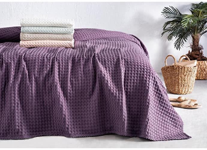Покрывало пике Tivolyo Modesto, фиолетовый
