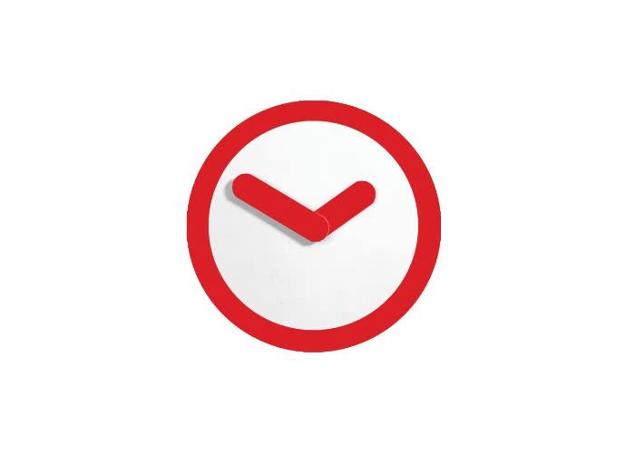 Часы настенные Урбаника Focus, красный
