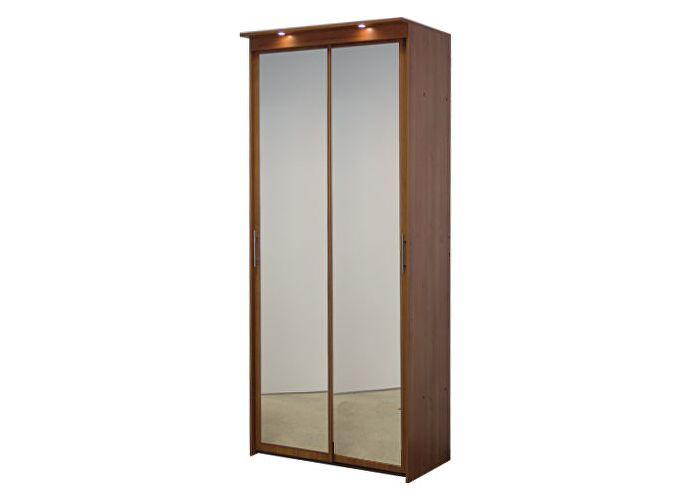 Шкаф-купе 2х дверный с 2 зеркальными дверями