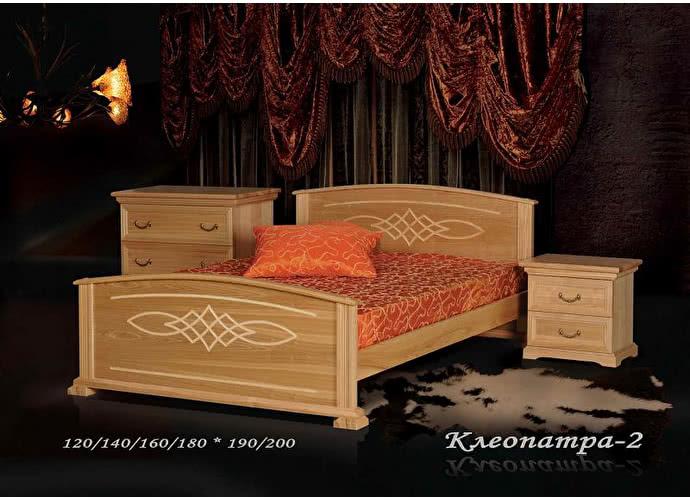 Кровать Фокин Клеопатра 2 Орех