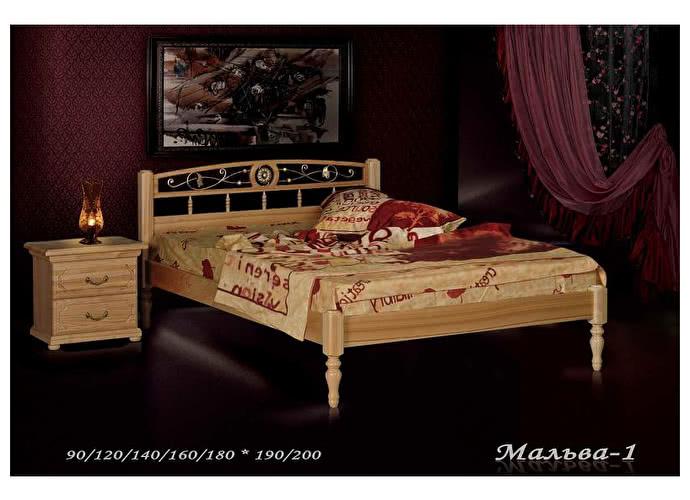 Кровать Фокин Мальва 1 Орех