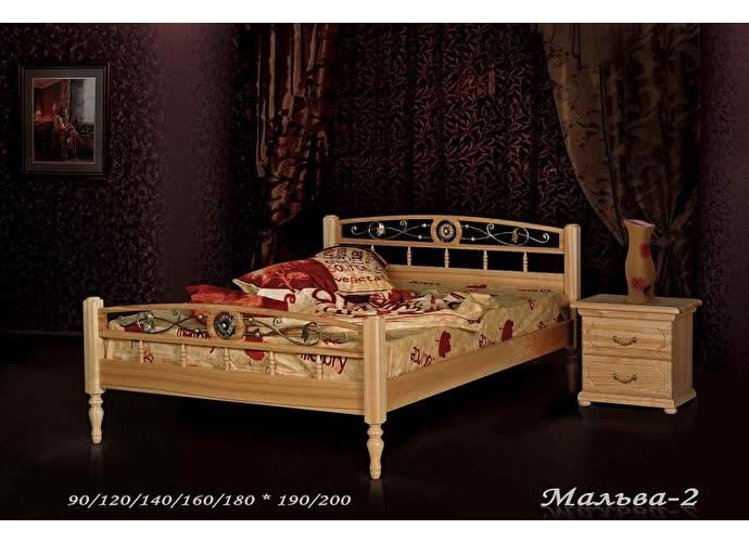 Кровать Фокин Мальва 2 Орех