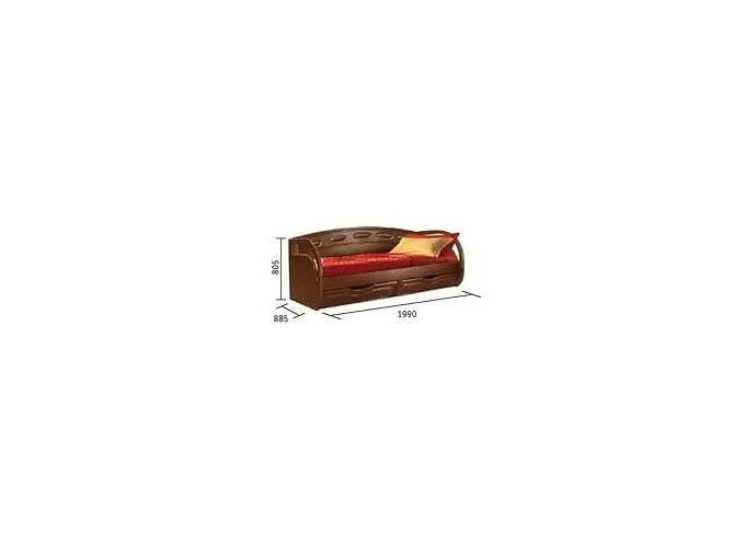 Кровать Клеопатра с ящиками, 0320.11 (80)