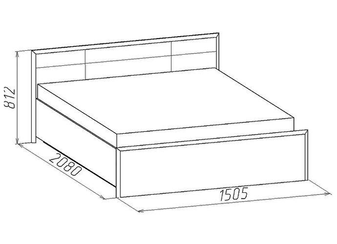 Кровать Глазов Амели 3 (140)