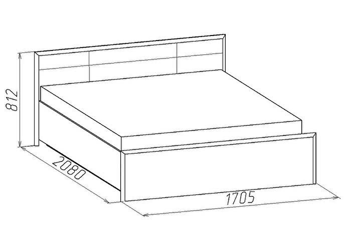 Кровать Глазов Амели 2 (160)
