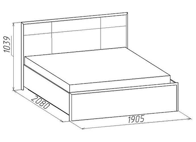 Кровать Глазов Амели Люкс 101 (180)
