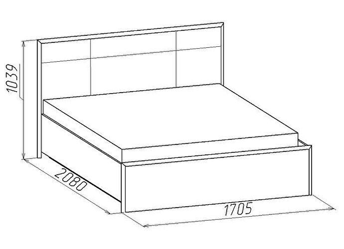 Кровать Глазов Амели Люкс 201 (160)