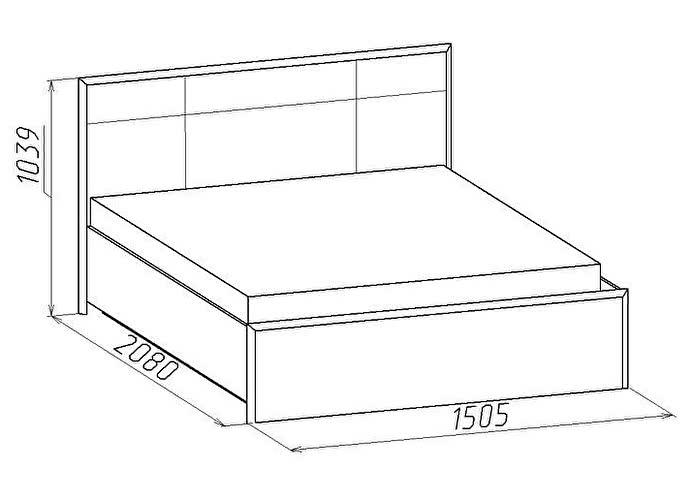 Кровать Глазов Амели Люкс 301 (140)