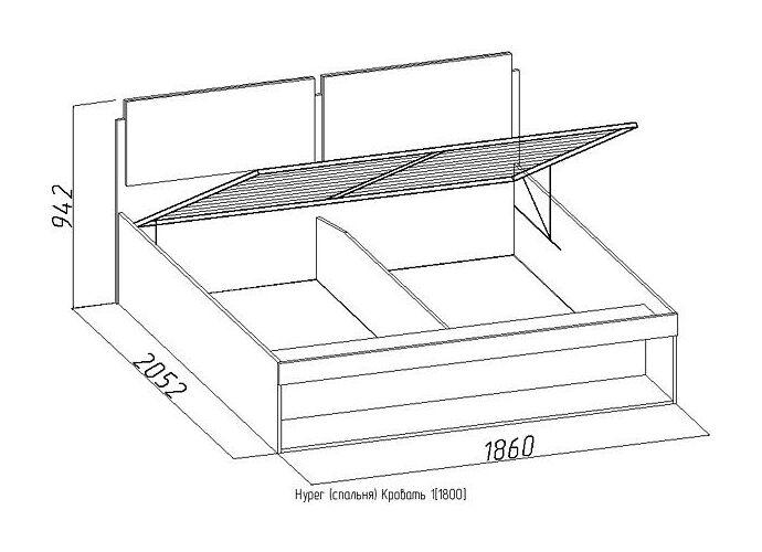 Кровать Глазов Hyper 1 (180)