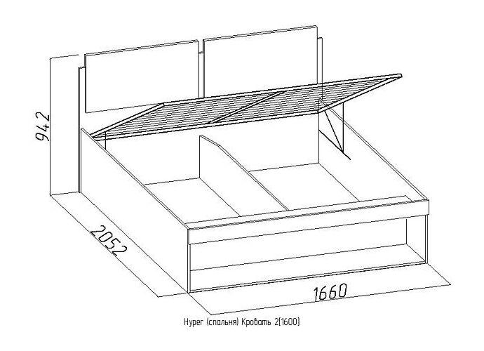 Кровать Глазов Hyper 2 (160)