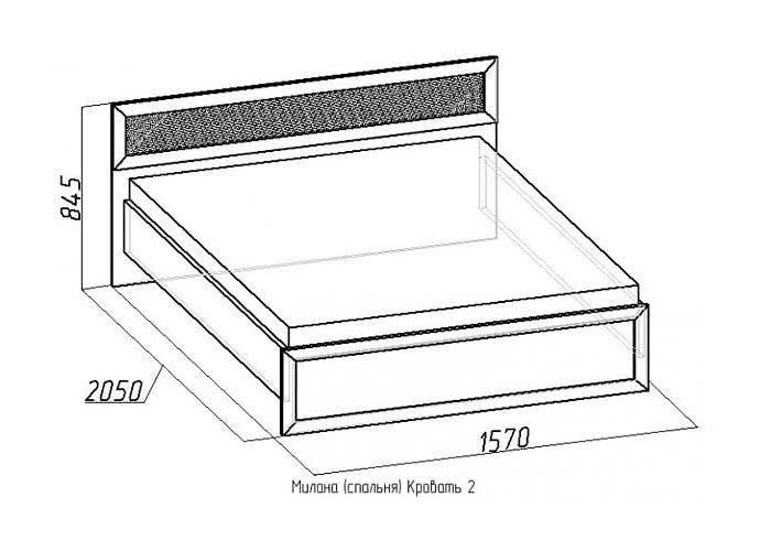 Кровать Глазов Милана 2 с основанием орех (140)