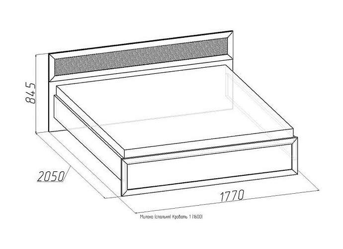 Кровать Глазов Милана 1 с основанием (160)