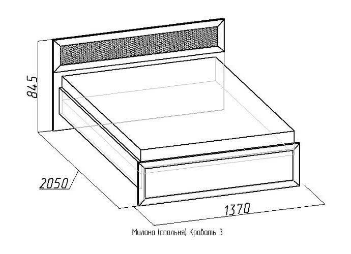 Кровать Глазов Милана 3 (120) с основанием