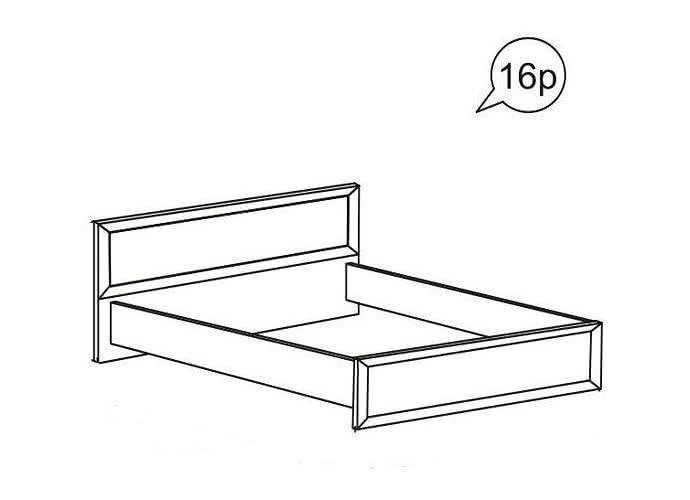 Кровать Ижмебель Ника-Люкс  АРТ 16р  (140)