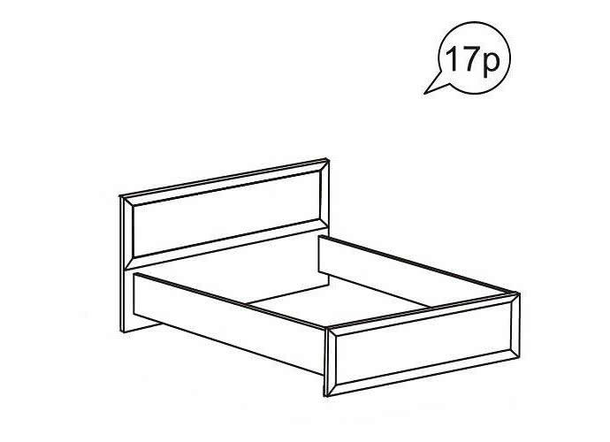 Кровать Ижмебель Ника-Люкс АРТ 17р (160)