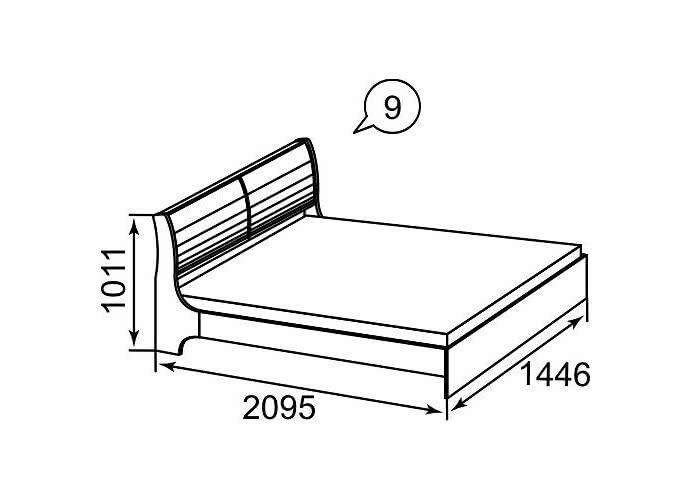 Кровать Ижмебель Марианна АРТ-9 (140)