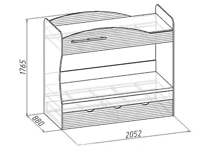 Кровать Глазов  Калейдоскоп 6 двухъярусная