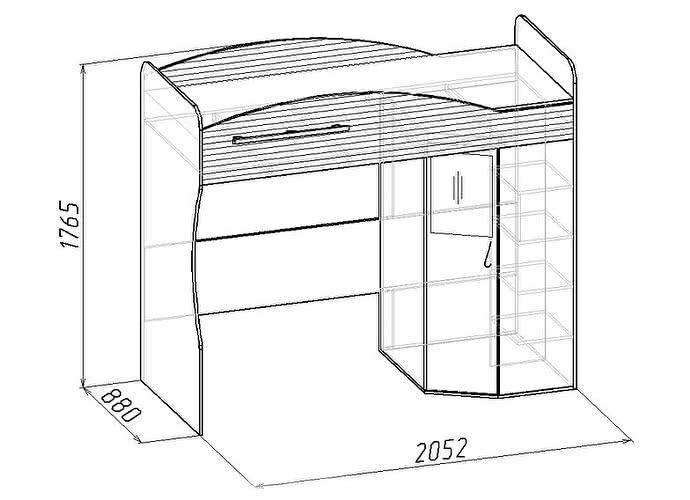 Кровать-чердак Глазов Калейдоскоп 7