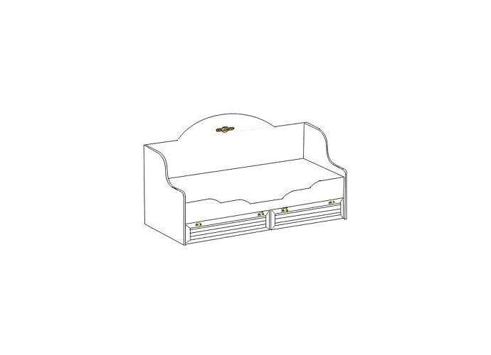 Кровать Интеди Соната одинарная (80), 01.95а