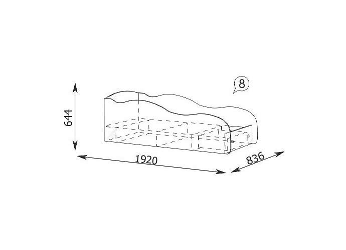 Кровать-машина Ижмебель Браво 8 (80)