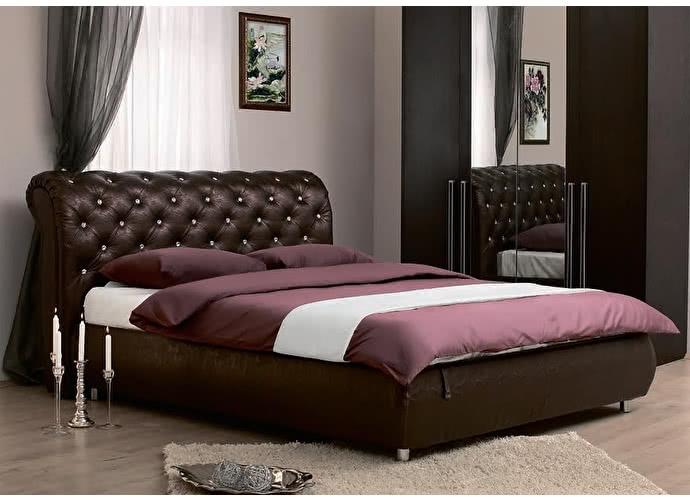 Кровать Сильва Эмили стразы (меркури)