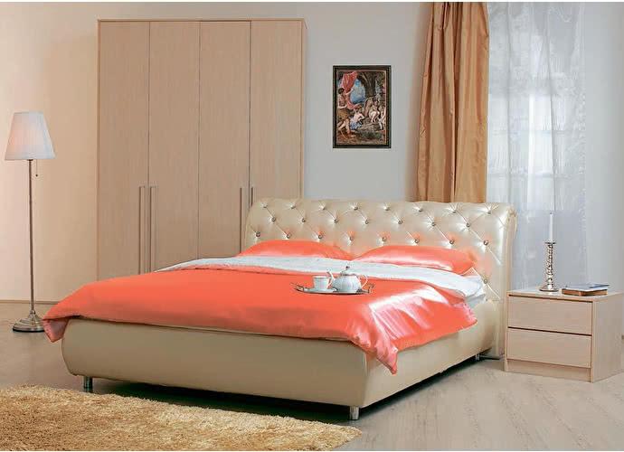 Кровать Эмили пуговицы с подъемным механизмом (эгоист)