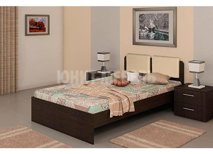 Кровать Юнит-мебель Люкс с основанием венге