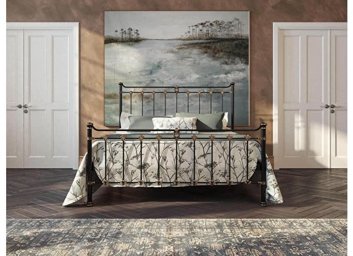Кровать Originals by Dreamline Guardian (1 спинка) Черный глянцевый с позолотой