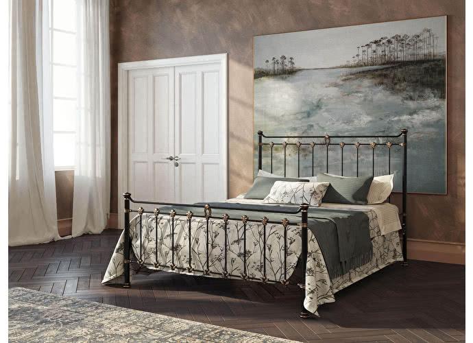 Кровать Originals by Dreamline Guardian (2 спинки) Черный глянцевый с позолотой