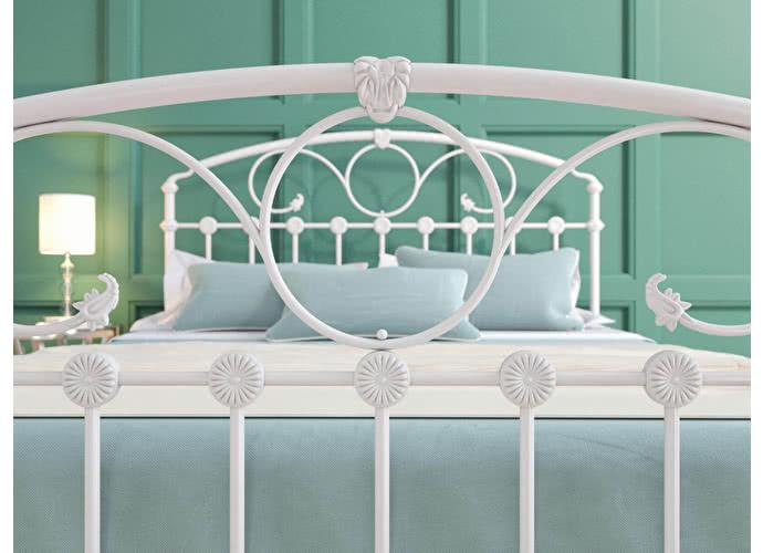 Кровать Originals by Dreamline Rosaline (1 спинка) Белый глянцевый