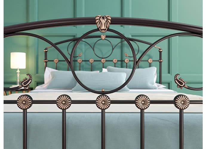 Кровать Originals by Dreamline Rosaline (1 спинка) Черный глянцевый с позолотой