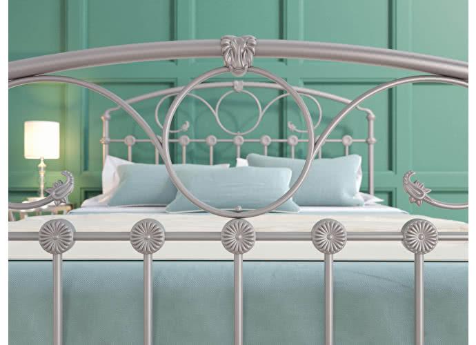 Кровать Originals by Dreamline Rosaline (1 спинка) Серебро
