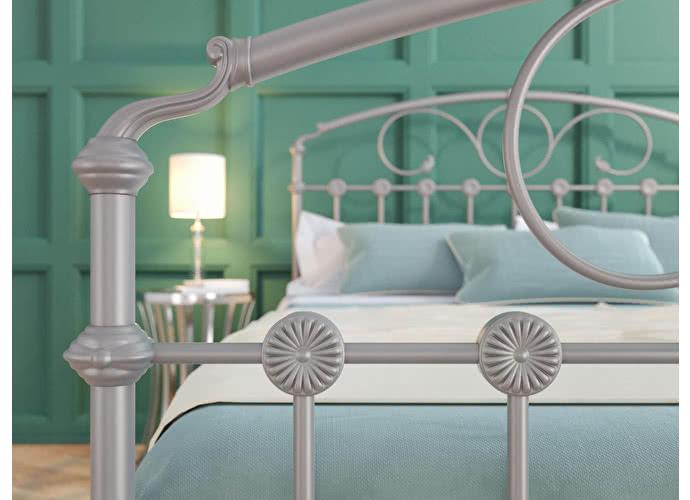 Кровать Originals by Dreamline Rosaline (2 спинки) Серебро
