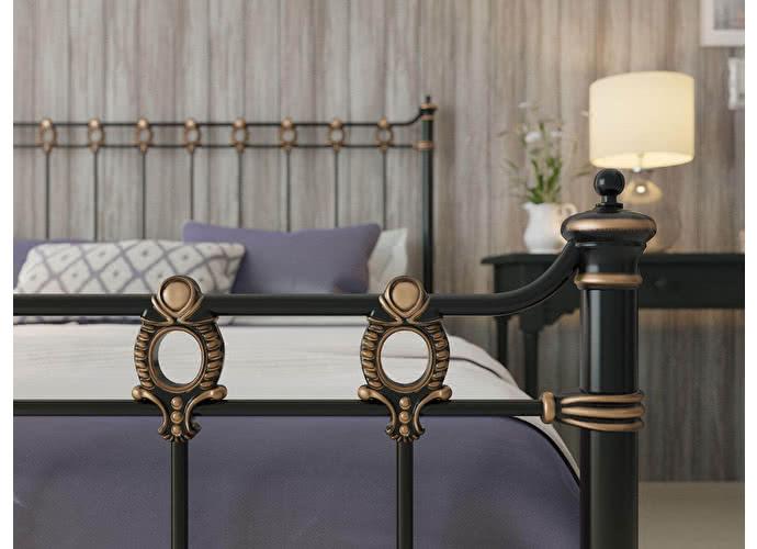 Кровать Originals by Dreamline Capella (1 спинка) Черный глянцевый с позолотой