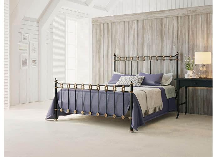 Кровать Originals by Dreamline Capella (2 спинки) Черный глянцевый с позолотой