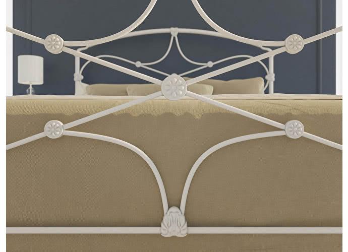 Кровать Originals by Dreamline Laiza (1 спинка) Белый глянцевый