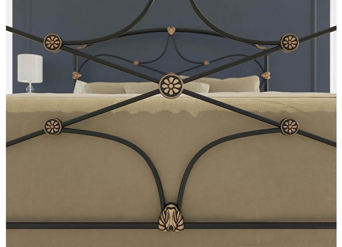 Кровать Originals by Dreamline Laiza (1 спинка) Черный глянцевый с позолотой + 10%