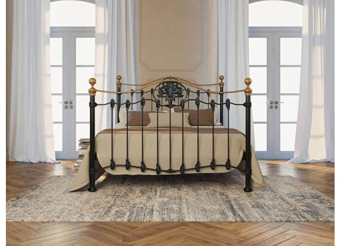 Кровать Originals by Dreamline Camelot (2 спинки) Черный глянцевый