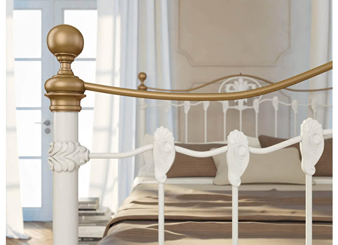 Кровать Originals by Dreamline Camelot (2 спинки) Белый глянцевый