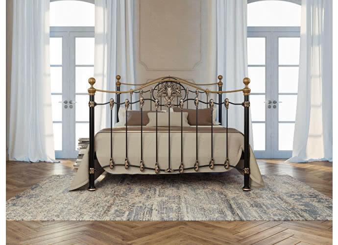 Кровать Originals by Dreamline Camelot (2 спинки) Черный глянцевый с позолотой