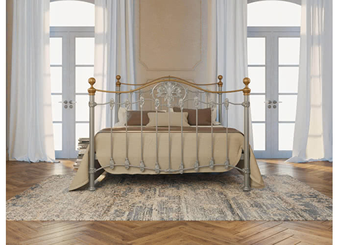 Кровать Originals by Dreamline Camelot (2 спинки) Серебро