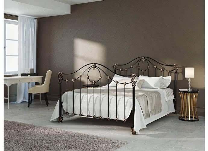 Кровать Originals by Dreamline Sylva (2 спинки) Черный глянцевый с позолотой