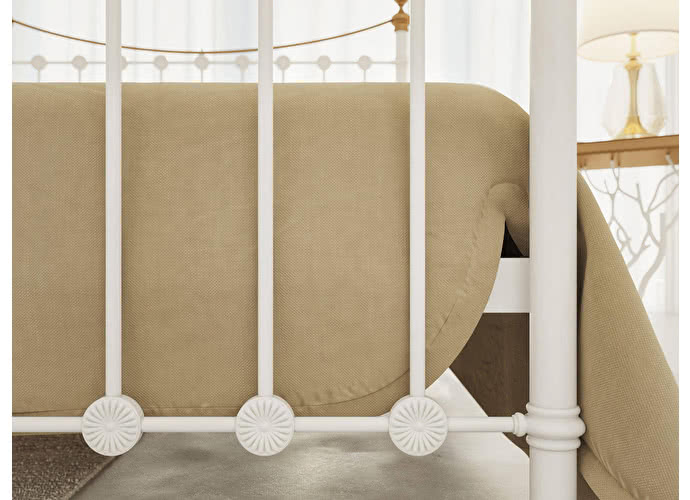 Кровать Originals by Dreamline First (2 спинки) Белый глянцевый