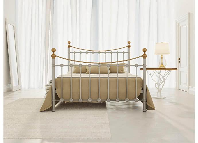 Кровать Originals by Dreamline First (2 спинки) Серебро
