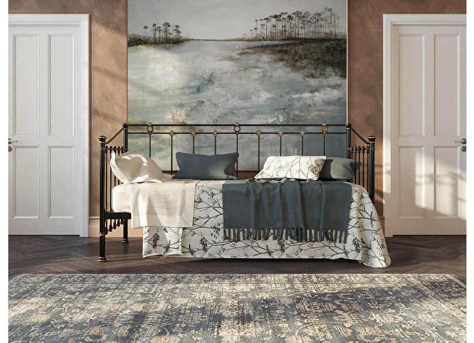Кровать-диван Originals by Dreamline Guardian Черный глянцевый с позолотой