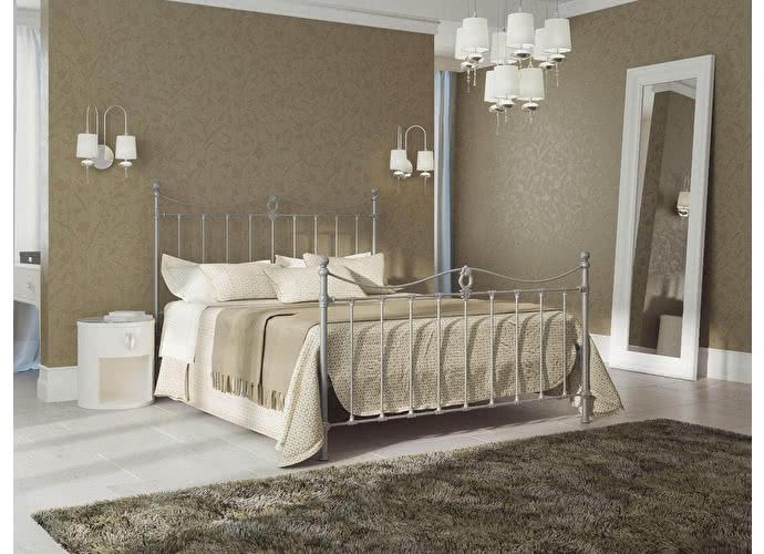 Кровать Originals by Dreamline Taya (2 спинки) Серебро
