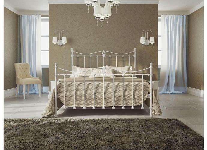 Кровать Originals by Dreamline Taya (2 спинки) Белый матовый