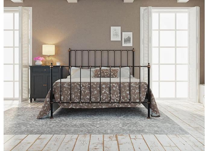 Кровать Originals by Dreamline Paris (2 спинки) Черный глянцевый с позолотой