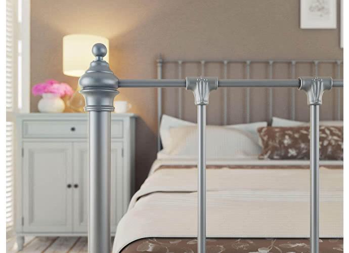 Кровать Originals by Dreamline Paris (2 спинки) Серебро